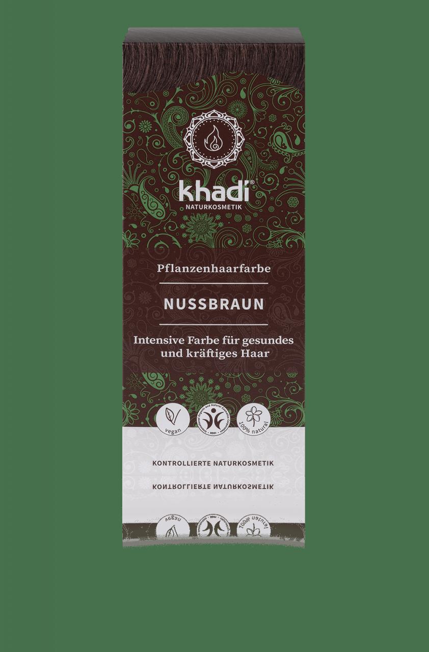 Khadi Növényi hajfesték por – Természetes mogyoróbarna 100 g