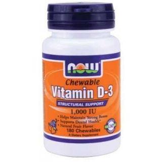 Now D3-vitamin rágótabletta 1000iu -180db