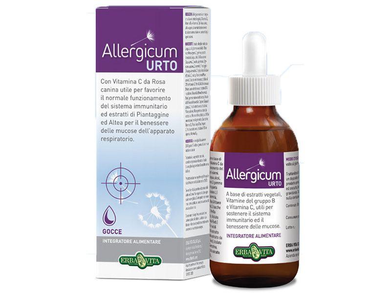 Allergicum URTO allergia elleni csepp 50ml állati szőr, penész, atkák, pollen, házipor) /Erba Vita/