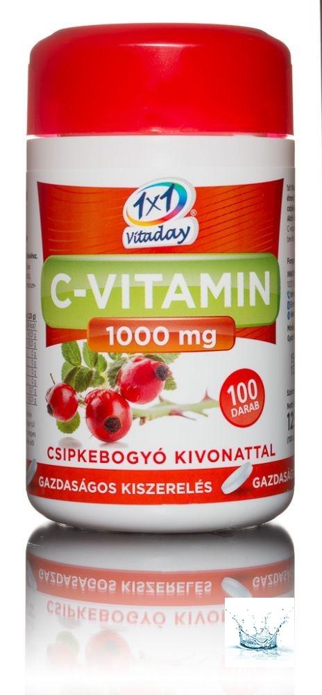 1x1 Vitaday C-vitamin 1000 mg csipkebogyós filmtabletta 100 db