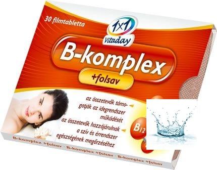 1x1 Vitaday B-komplex+folsav tabletta 30 db