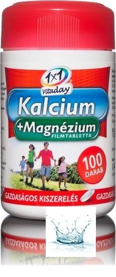 1X1 Vitaday Kalcium+Magnézium Filmtabletta 100 db