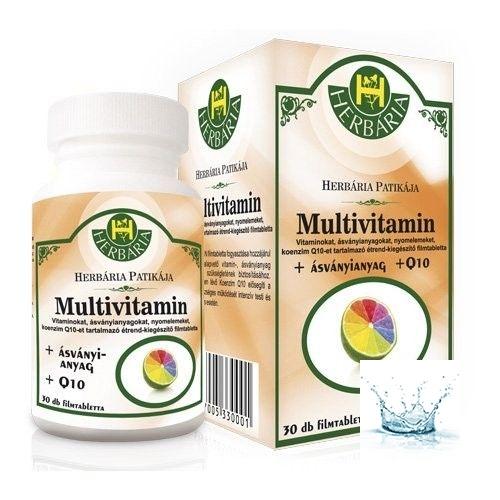 Herbária Multivitamin filmtabletta + Q10 30 db