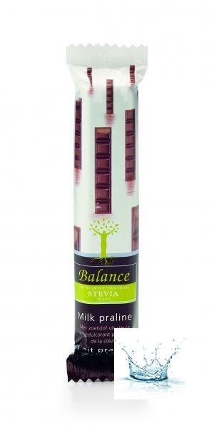 Belga Tej Praline Csokoládé Szelet Steviával 35 g /Balance/