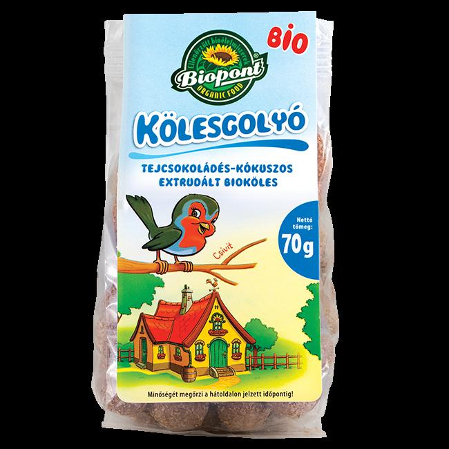 Biopont Bio Kölesgolyó Tejcsokis-Kókuszos 70g