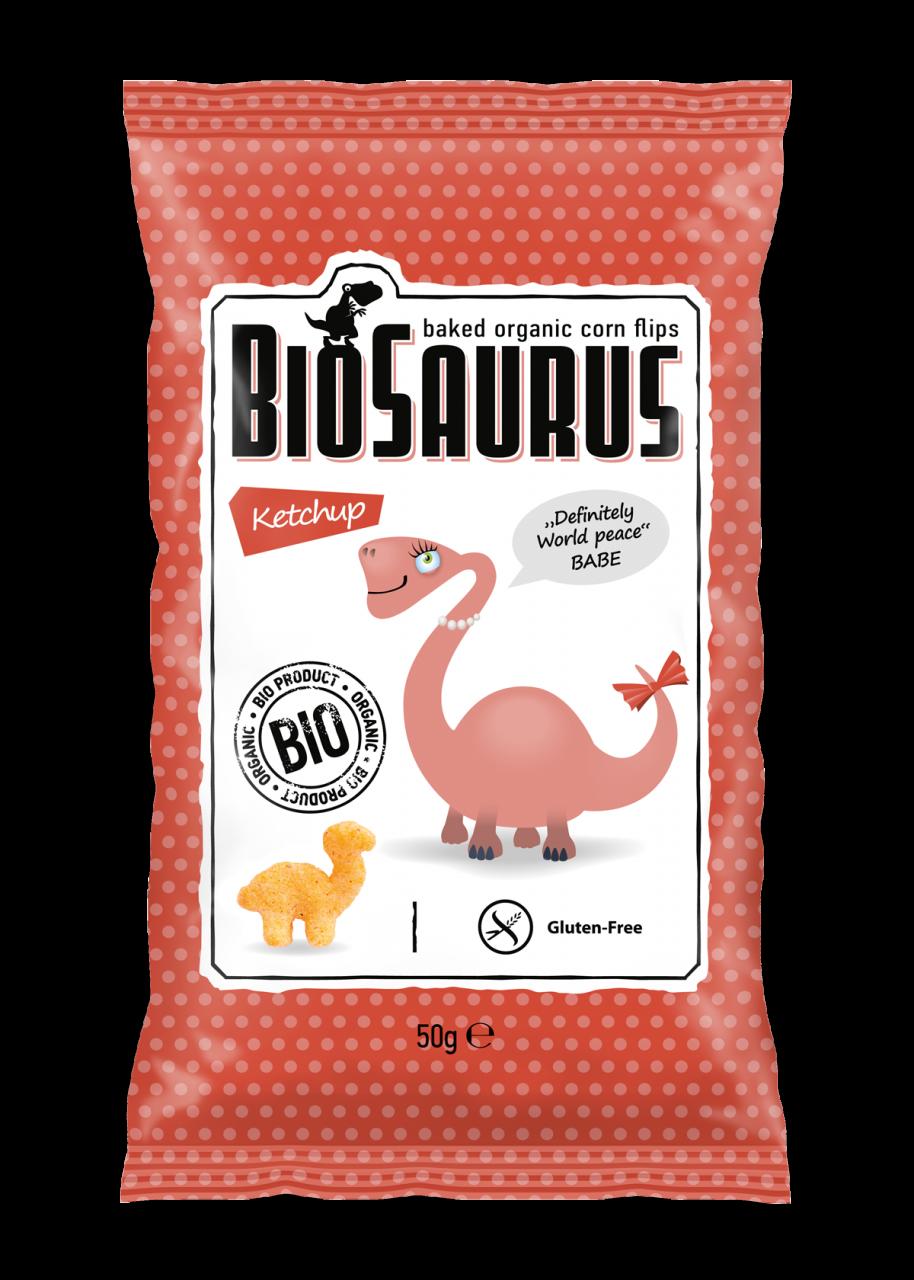 Biopont Biosaurus Kukoricasnack Ketcupos 50g