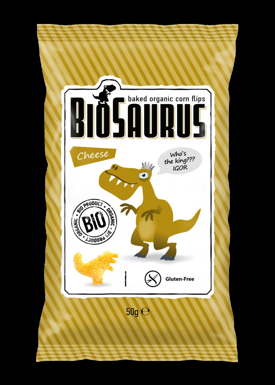Biopont Biosaurus Kukoricasnack Sajtos 50g