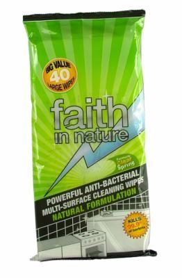Faith In Nature Antibakteriális Törlőkendő 40db