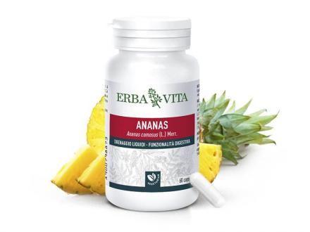 Ananász kapszula – bromelain enzimforrás, 3 szabadalommal védett, vegetáriánus kapszulatokban 60db /Erba Vita/
