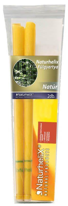 Naturhelix Fülgyertya Natúr 2db
