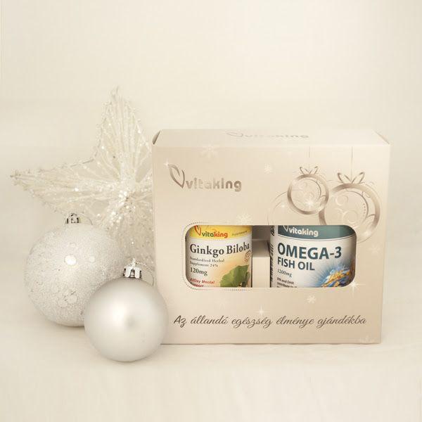 Vitaking Ezüst Karácsonyi Csomag (Ginkgo biloba 120mg 60db+Omega-3 1200mg 90db)