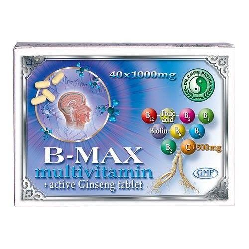 Dr.Chen B-Max Multivitamin - Aktív Ginseng Tabletta 40db