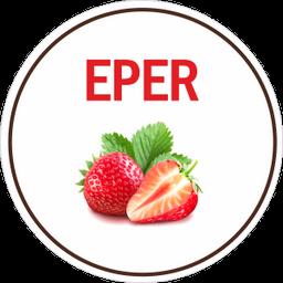 Hideg Nyalat Eper jégkrém (paleo, vegán, gluténmentes, tejmentes) 1000ml