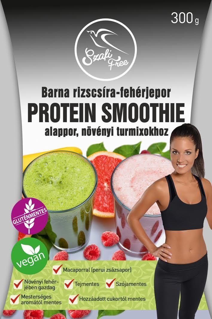 Szafi Free Barna Rizscsíra-Fehérjepor Protein Smoothie Alappor, Növényi Turmixokhoz (Gluténmentes, Vegán) 300g