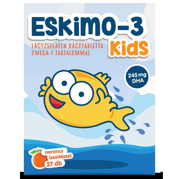 Eskimo-3 Kids omega-3 27 darab lágyzselatin rágótabletta
