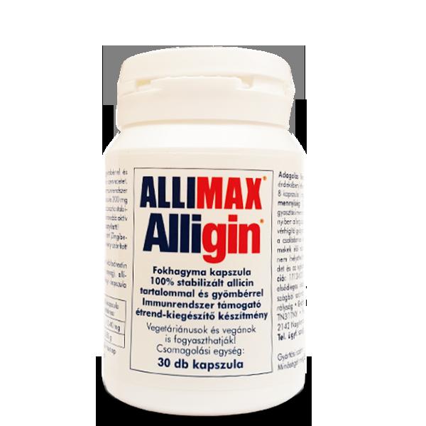 Allimax Alligin fokhagyma kapszula gyömbérrel 30db