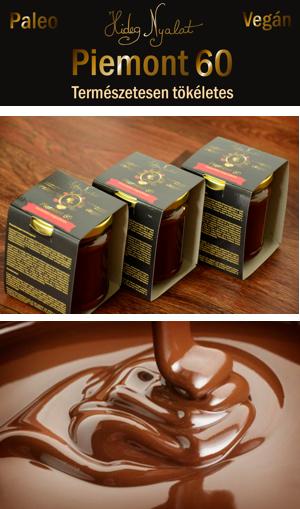 Piemont 60 Csokoládés mogyorókrém piemont Piemonti törökmogyoróból és perui bio nyers kakaóból 180g /Hideg nyalat/