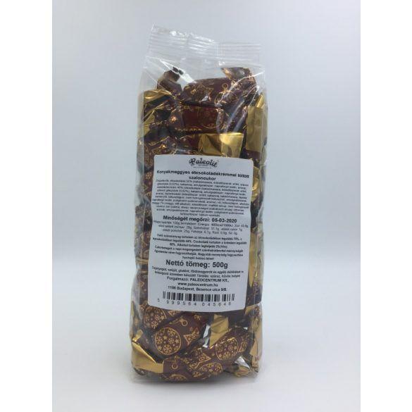 Konyakmeggyes étcsokoládékrémmel töltött szaloncukor 500g /Paleolit/