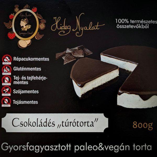 """Hideg nyalat Csokoládés """"túrótorta"""" 800g -GYORSFAGYASZTOTT"""