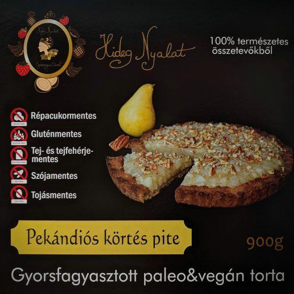 Hideg nyalat Pekándiós körtés pite 900g -GYORSFAGYASZTOTT