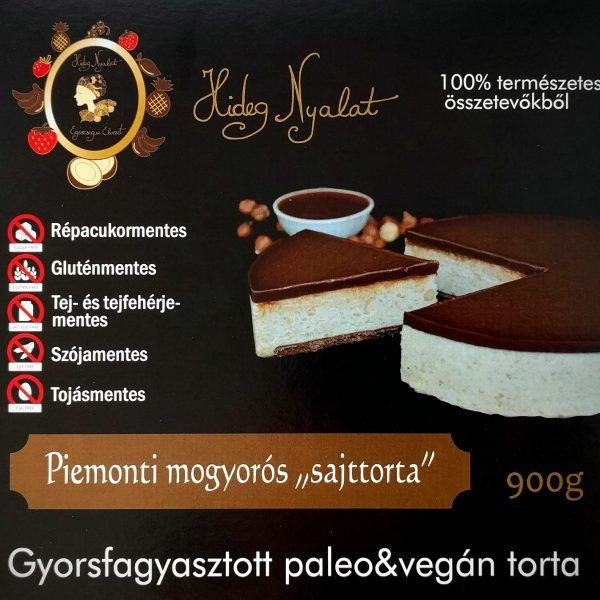 """Hideg nyalat Piemonti mogyorós """"sajttorta"""" 900g -GYORSFAGYASZTOTT"""
