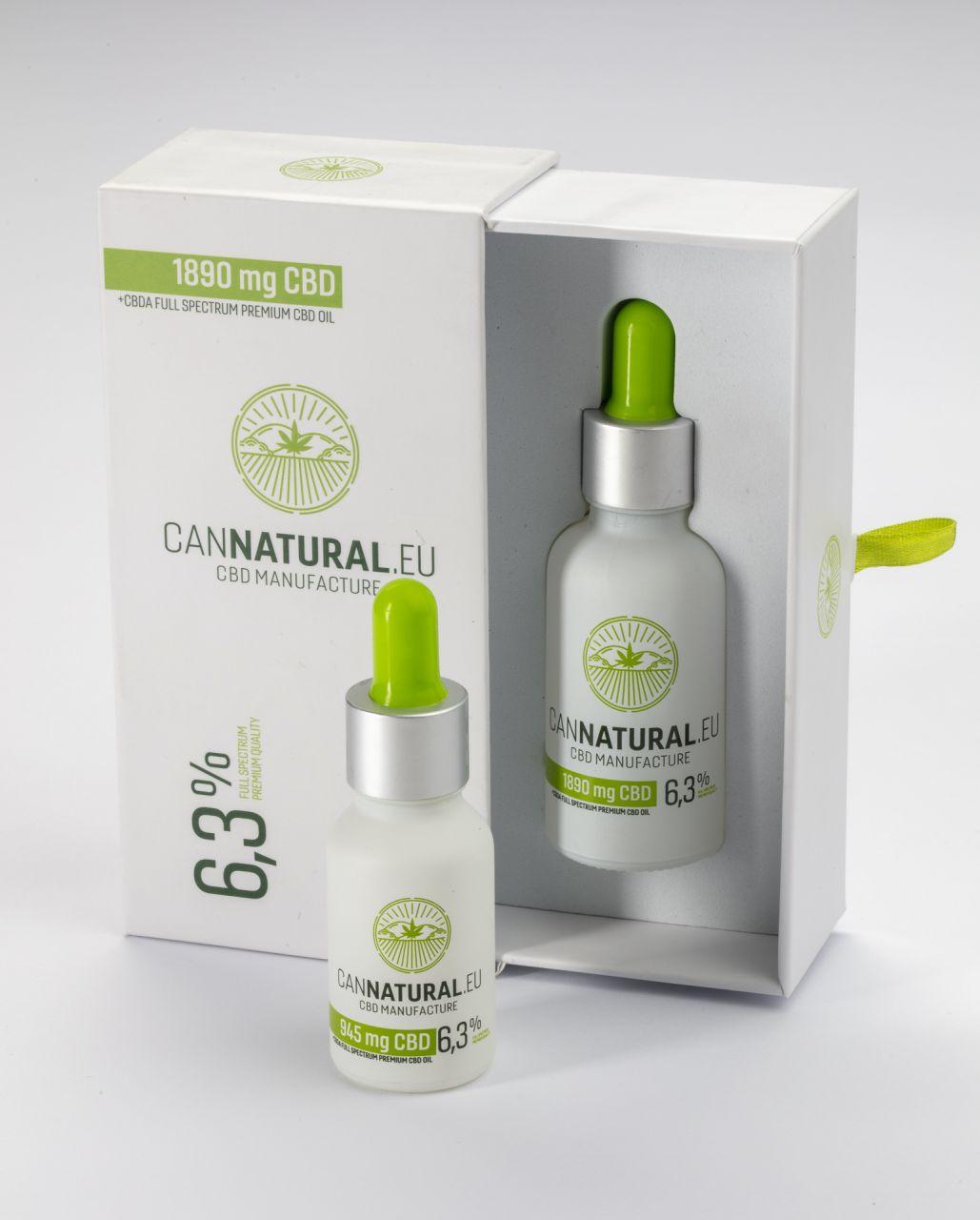 Cannatural CBD olaj 6,3% fullspectrum,(1890 mg) -30ml
