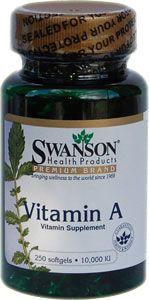 A-vitamin 10000NE 250db softgel kapszula /Swanson/