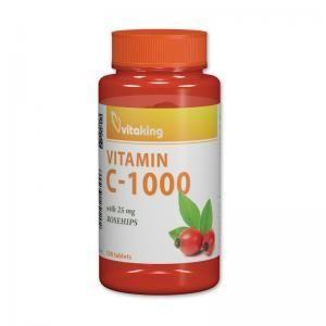 Vitaking C-vitamin Csipkebogyóval 1000mg 100db tabletta
